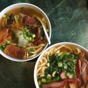 Chinatown Express roast pork and roast duck noodle soups